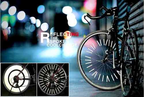 Pack 12 Clips Reflective On Wheel Spokes Bike and Moto