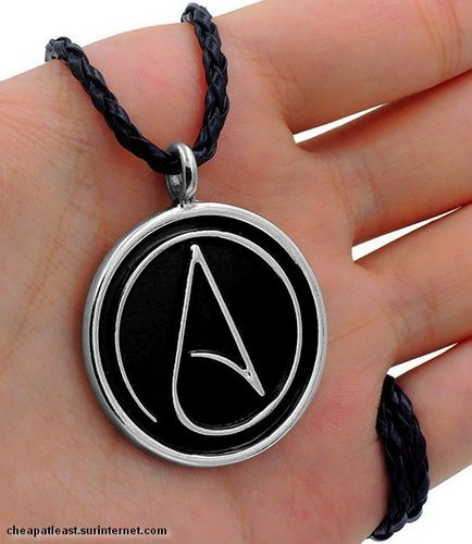 Cheap Choker Necklace With Pendant Atheist Symbol Atheism