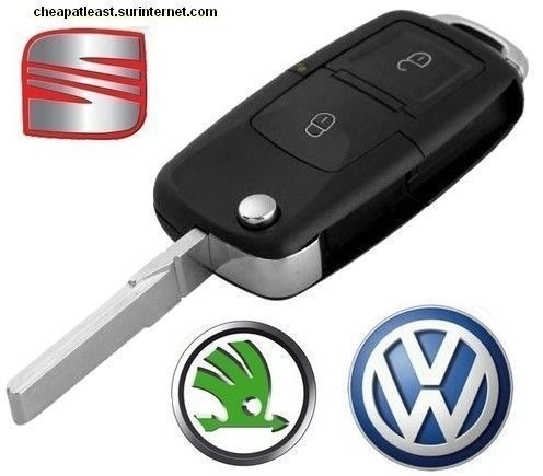 Case Key 2 Buttons Remote Vw Volkswagen Seat Skoda