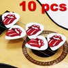 10 guitar picks Rolling Stones Rock USA