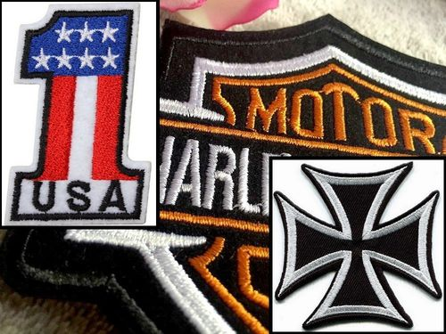Jacket Biker Patch USA No.1 or Harley or War Cross