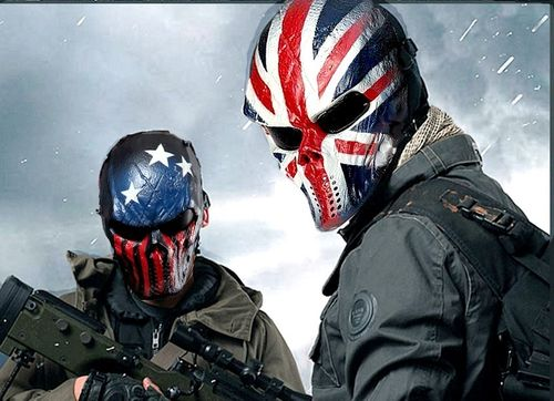 Masque Airsoft intégral Chiefs Warrior Drapeau UK / USA
