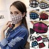 Anti-pollution dust mask - tartan pattern fabric