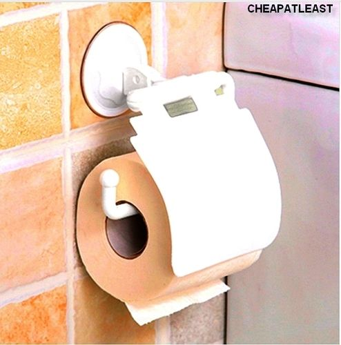 Toilet Paper Roll Wall Holder With Suction Cup Without Drilling