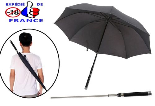 Self-Defense Umbrella With Concealed Embedded Sword