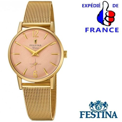 Woman Wrist Watch FESTINA EXTRA - Steel & Rose Gold Dorado Dial