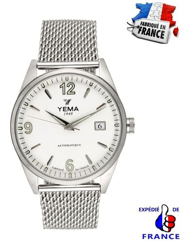 Men's Watch YEMA automatic steel Silver Milanese mesh