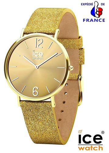 Ice Watch for woman CITY Sparkling Glitter Gold Leather