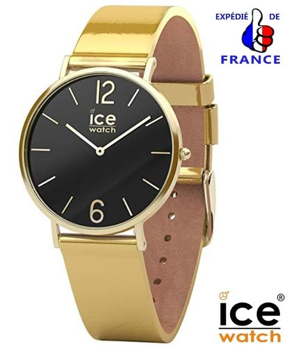Ice Watch for woman CITY Sparkling Metal Gold Leather