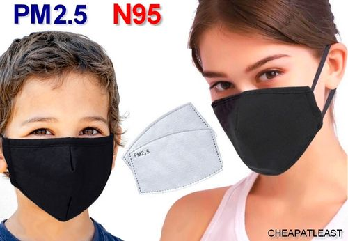 Taille S Masque Anti Pollution + Filtre À Charbon Actif  Pm2.5