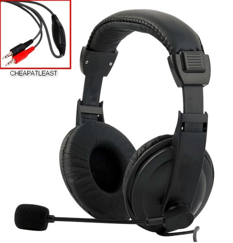 Hands-free Headset Gaming Headphone With Mic & dual Male Jack
